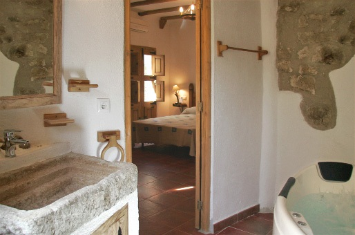 cuarto de baño casa rural castellon alba